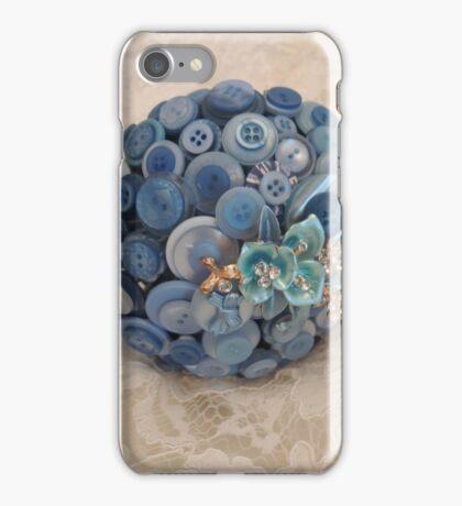 Something Blue: ButtonBelleBridal Bouquet iPhone Case/Skin