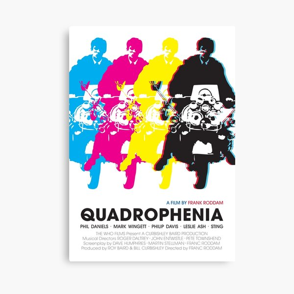 Quadrophenia Stretched Canvas Movie Poster Film Print Wall Art Jimmy Cooper Mods