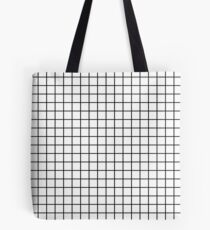 Emmy -- Black and White Grid, black and white, grid, monochrome, minimal grid design cell phone case Tote Bag