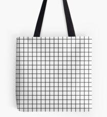 Emmy - Schwarz-Weiß-Grid, schwarz und weiß, Raster, Monochrom, minimal Raster Design Handyhülle Tasche