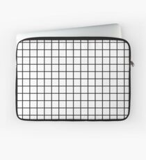 Emmy -- Black and White Grid, black and white, grid, monochrome, minimal grid design cell phone case Laptop Sleeve