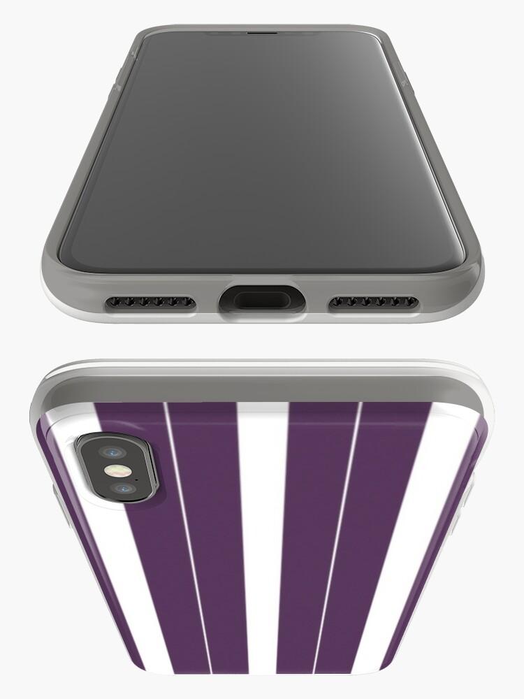 Vista alternativa de Funda y vinilo para iPhone Rayas púrpuras y blancas
