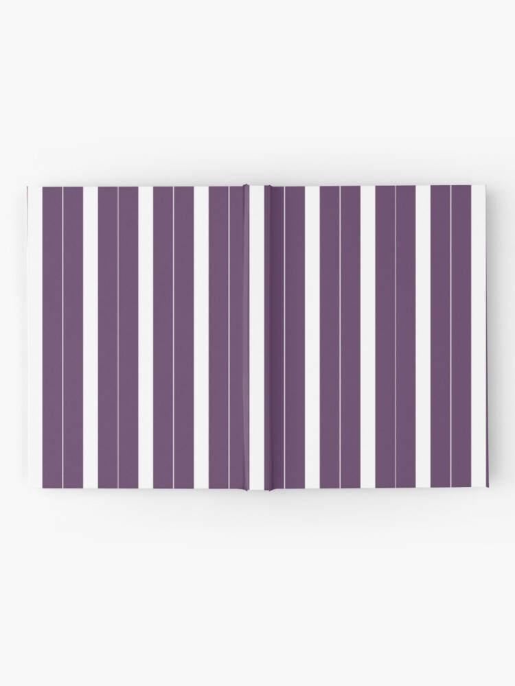Vista alternativa de Cuaderno de tapa dura Rayas púrpuras y blancas