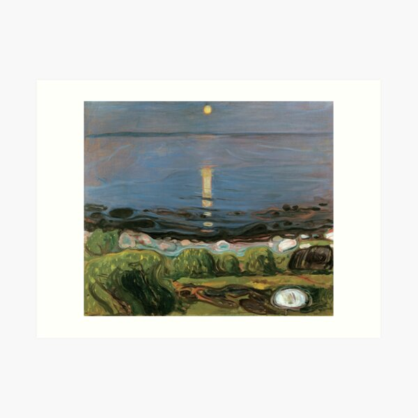 Edvard Munch - Summer Night by the Beach, 1902 Art Print