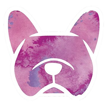 Frenchie purple watercolor - French Bulldog shirt, French Bulldog decal by smooshfaceutd
