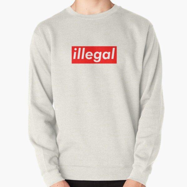 illegal Supreme Box Logo Parody Pullover Sweatshirt