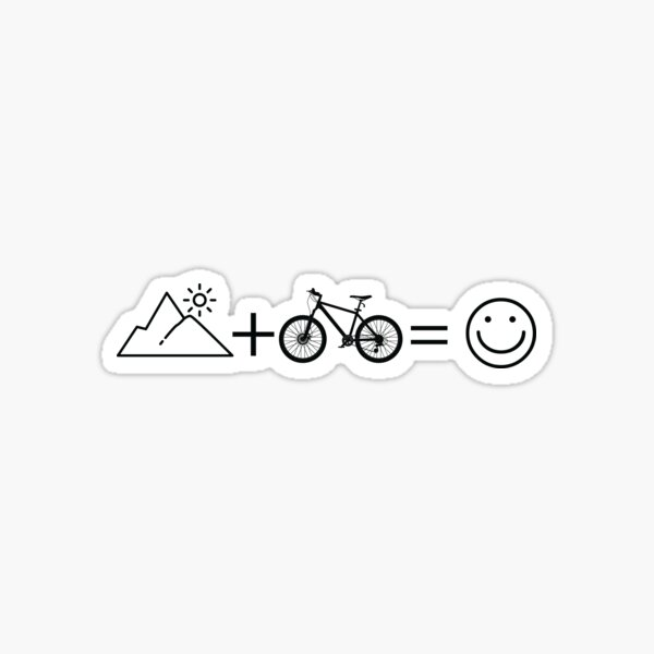 Funny Mountain Bike Stickers Redbubble