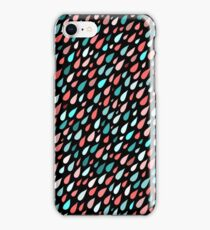 Rainy Day Pattern. Pink and blue iPhone Case/Skin