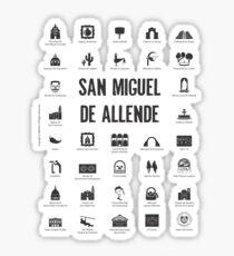 San Miguel de Allende, Mexico (black ink) Sticker