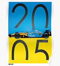 ALONSO R25 POSTER Poster