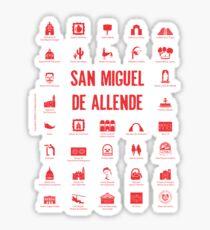 San Miguel de Allende, Mexico (red ink) Sticker