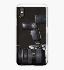 Set of photographs. DSLR camera, lens and flash iPhone Case/Skin