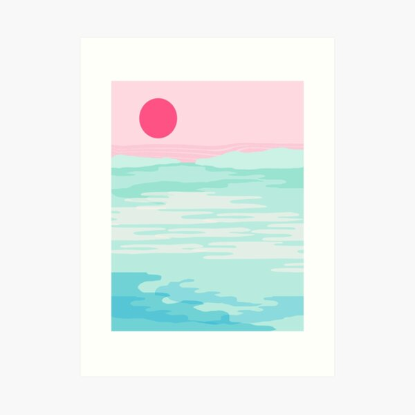 Really - 80s style throwback sunset sunrise west coast socal vibes surfing beach vacation Art Print