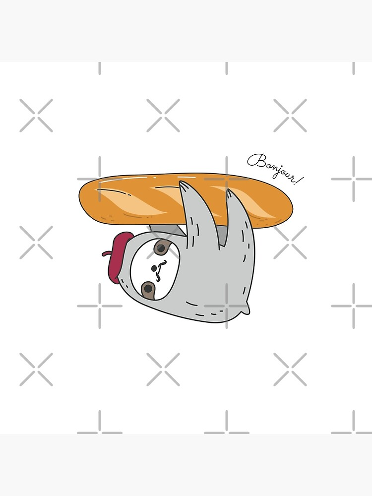 French sloth with baguette by Miri-Noristudio