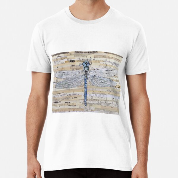 Blue Dragonfly Collage by C.E. White Premium T-Shirt
