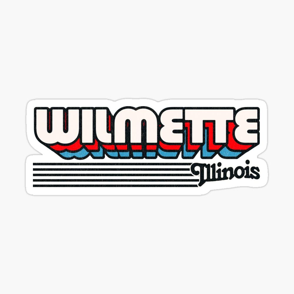 Wilmette, Illinois | Retro Stripes Sticker