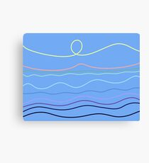 BLUE Lines Canvas Print