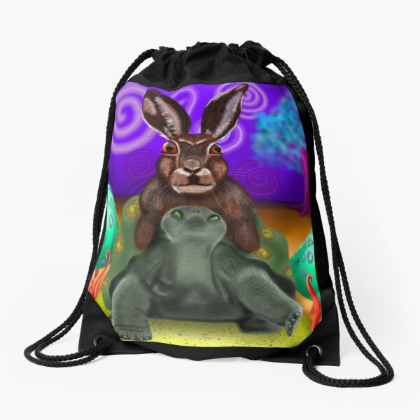 Slow Trip Drawstring Bag
