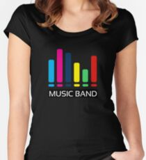 Music band T-Shirt Gift For Friend Gift For Boyfriend Gift For girlfriend. Women's Fitted Scoop T-Shirt