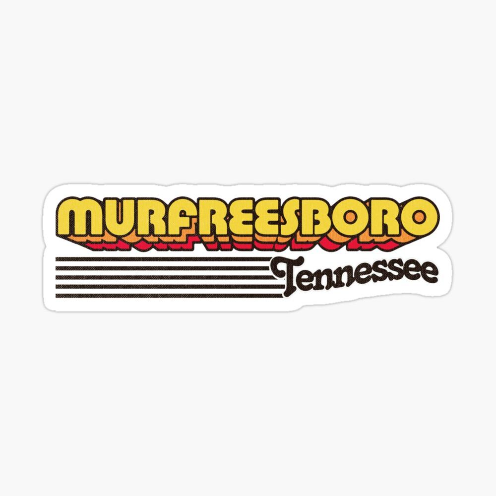 Murfreesboro, Tennessee | Retro Stripes Sticker