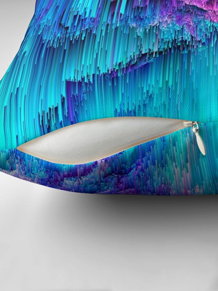 Alternate view of Neon Drifting - Pixel Art Throw Pillow