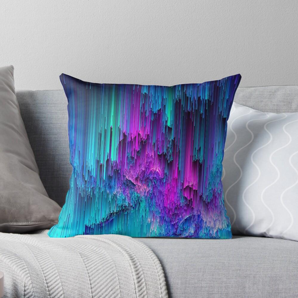 Neon Drifting - Pixel Art Throw Pillow