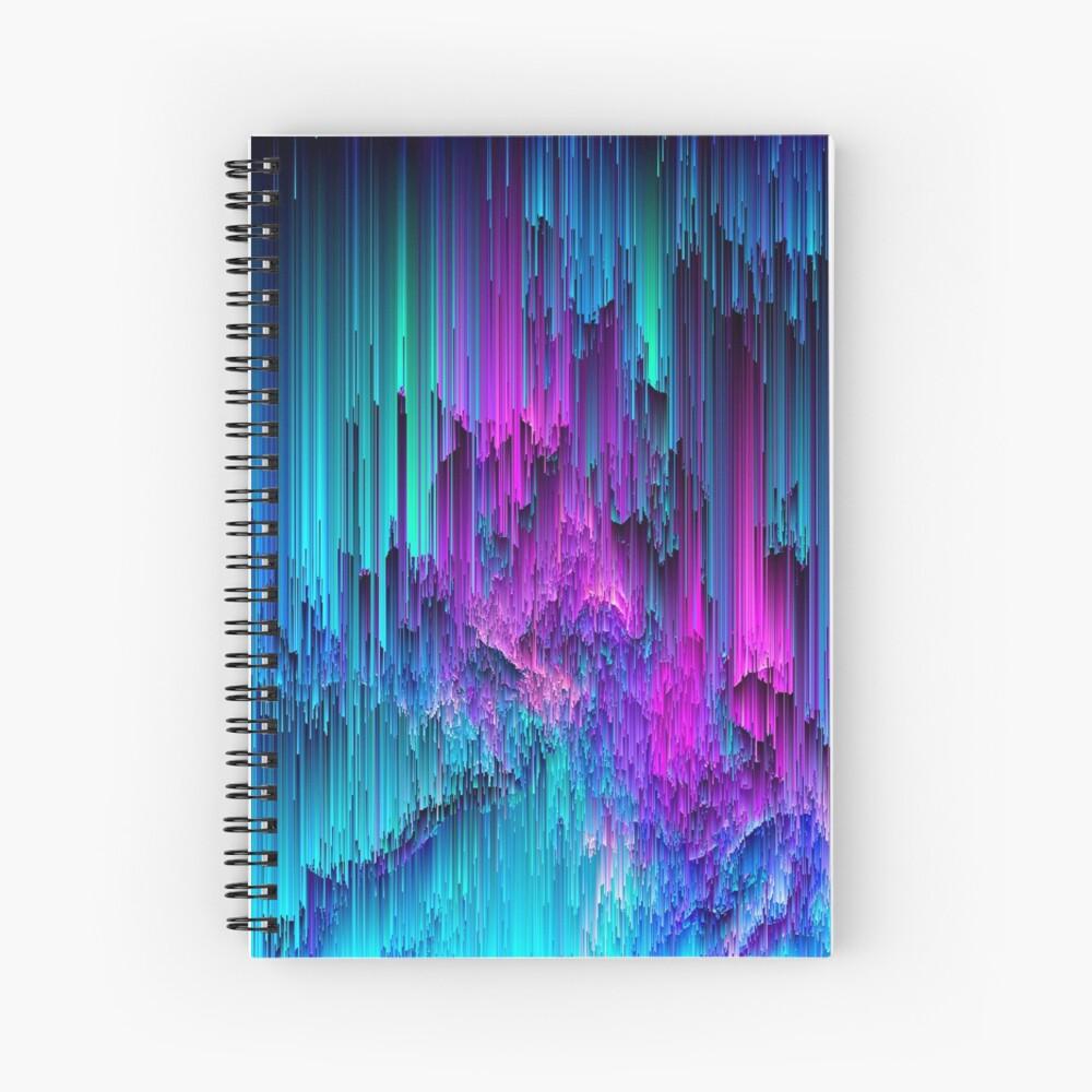 Neon Drifting - Pixel Art Spiral Notebook
