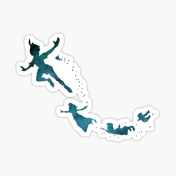 Peter Pan Illustration Sticker