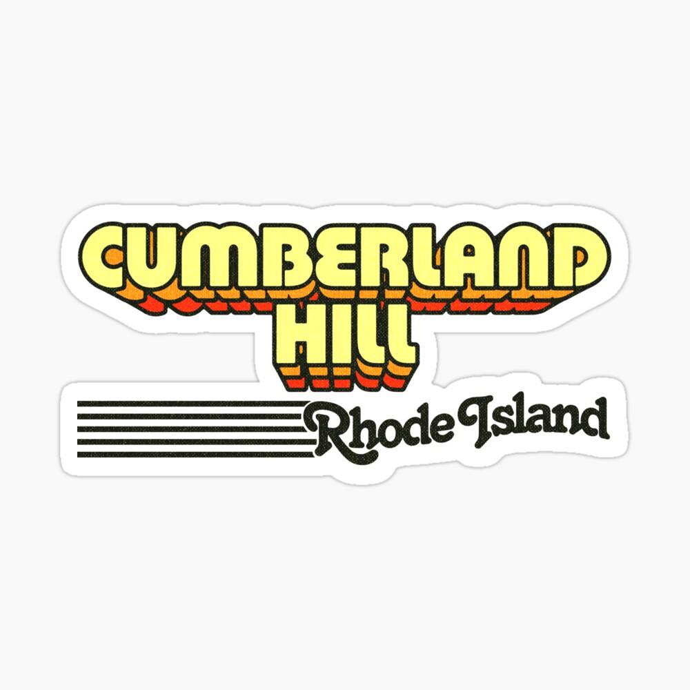 Cumberland Hill, Rhode Island   Retro Stripes Sticker