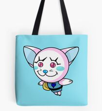 Kitty Pow Pow: Pink-Alu Tote Bag