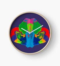 Rorschach Tintenklecks Uhr