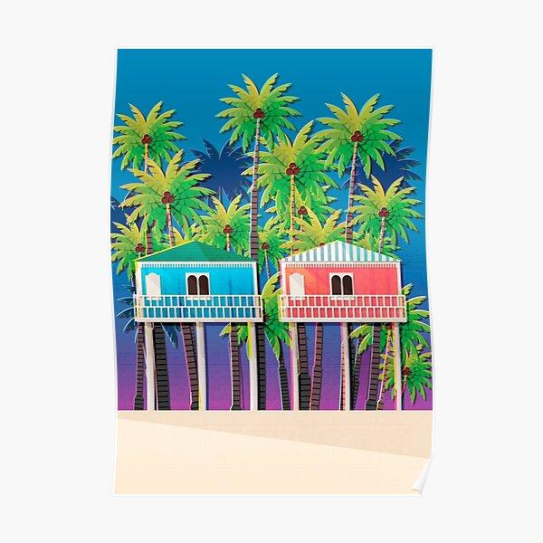 Palolem beach huts Poster