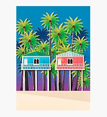 Palolem beach huts Photographic Print