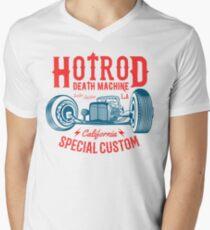 Hot Rod Death Machine T-Shirt mit V-Ausschnitt für Männer