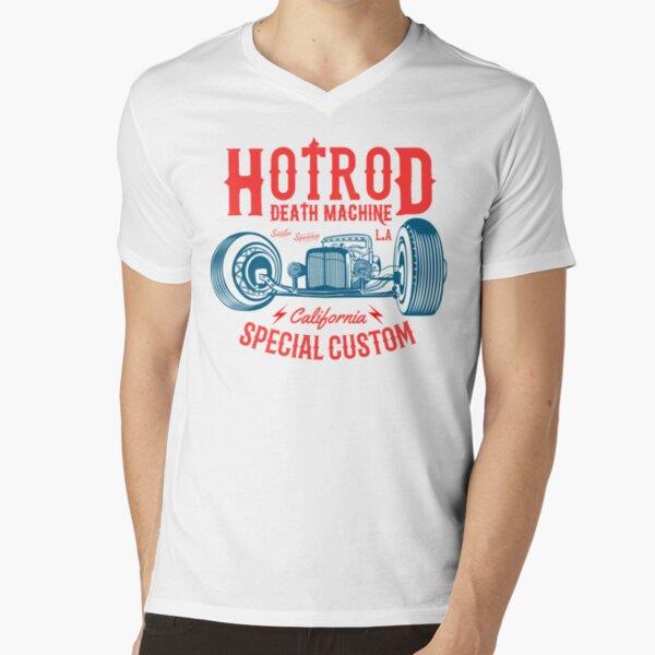 Hot Rod Death Machine V-Neck T-Shirt