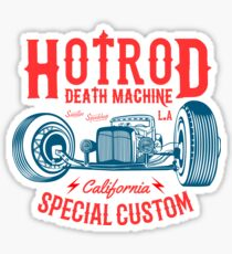 Hot Rod Death Machine Sticker