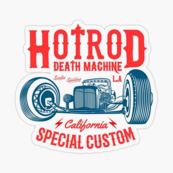 Hot Rod Death Machine Transparent Sticker