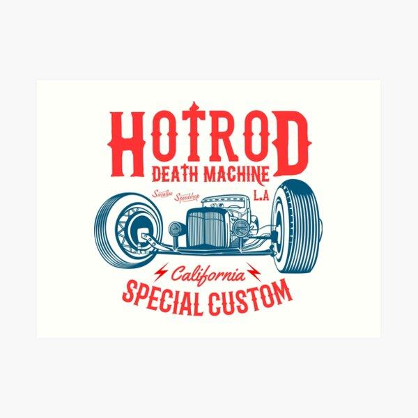 Hot Rod Death Machine Art Print
