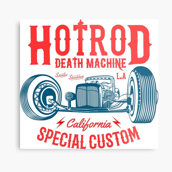 Hot Rod Death Machine Metal Print
