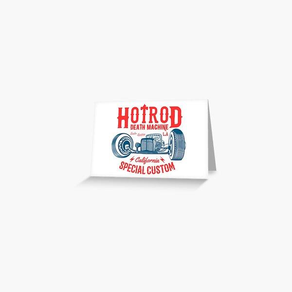 Hot Rod Death Machine Greeting Card