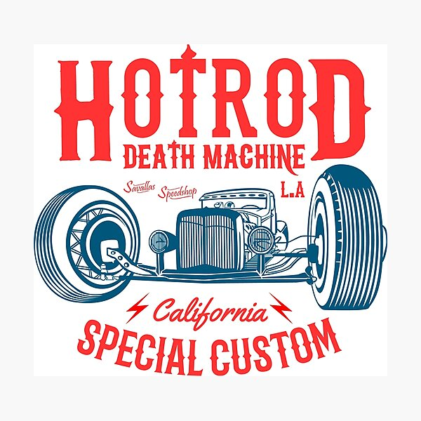 Hot Rod Death Machine Photographic Print