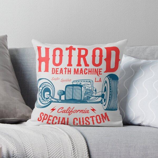 Hot Rod Death Machine Throw Pillow