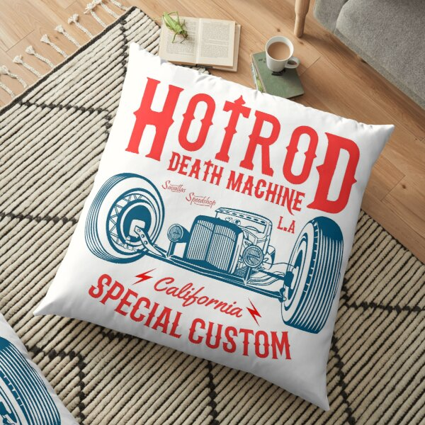 Hot Rod Death Machine Floor Pillow