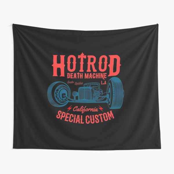 Hot Rod Death Machine Tapestry