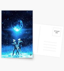WONDER / HER / TEAR / ANSWER Postcards