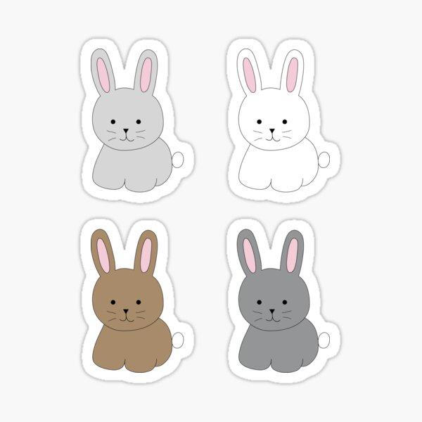 Cute Bunny Set Sticker