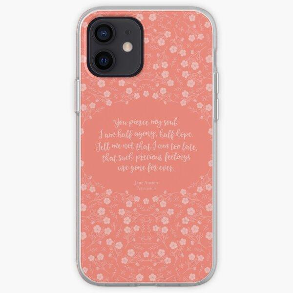 Jane Austen Persuasion Floral Love Letter Quote iPhone Soft Case