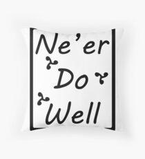 Ne'er Do Well Design Throw Pillow