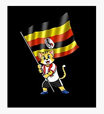 Uganda fan cat Photographic Print