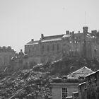 Snowy Edinburgh Castle by Prys